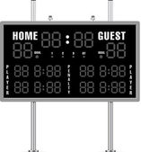 Home and Guest Scoreboard — Stock Vector
