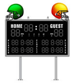 Home and Guest Scoreboard — Cтоковый вектор