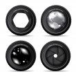 Royalty-Free Stock Vector Image: Vector illustration of camera lens on white