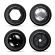 Vector illustration of camera lens on white - 