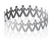 Paper team. Vector illustration on white background — Stock Vector