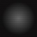 Постер, плакат: Speaker grille Metal pattern on black background