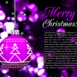 Background with Christmas balls, illustration — Vettoriale Stock #4484827