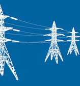 Vector power line — Stok Vektör