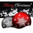 Stock vektor: Background with Christmas balls, illustration
