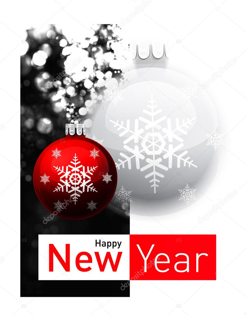 Defocused abstract background with Christmas balls illustration  Stock Vector #4530383
