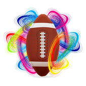 American football ball — Stock Vector