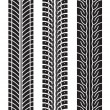 Repeating tire tracks vector illustration set on white — Stock Vector