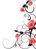 Vector Rose Background — Stock Vector