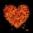 Royalty-Free Stock Vector Image: I love autumn! Heart shape from falling leaves