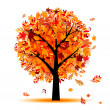 Stock Vector: Beautiful autumn tree for your design