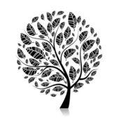 Kunst boom mooi voor uw ontwerp — Stockvector