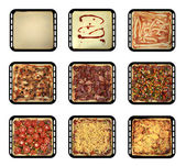 Stages of pizza — Stock Photo