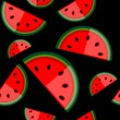 Watermelon seamless background for your design - Stock Vector