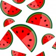 Royalty-Free Stock Vector Image: Watermelon seamless background for your design