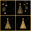 Royalty-Free Stock Vector Image: Christmas tree beautiful, cards for your design