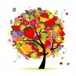 Royalty-Free Stock : Energy fruit tree for your design