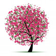 Stock Vector: Energy cherry tree for your design