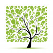 Art tree beautiful for your design — Stockvectorbeeld
