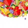 Energy fruit background for your design — Stock Vector