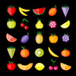 Energy fruits. Vector collection for your design - Stock Vector