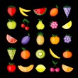 Energy fruits. Vector collection for your design — Stock Vector