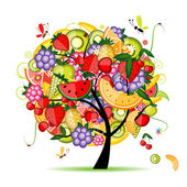 Energy fruit tree for your design — Stock Vector