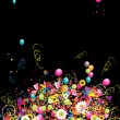 Happy holiday, funny background with balloons for your design - Imagen vectorial