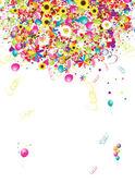 Szczęśliwy wakacje, tło zabawny z balonów do projektowania — Wektor stockowy