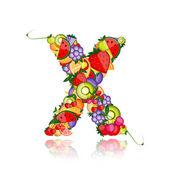 Letra de fruta para su diseño. ver a otros en mi galería — Vector de stock