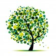 Abstract tree green for your design — Stockvektor