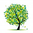 Abstract tree green for your design - Image vectorielle