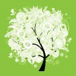 Spring beautiful white tree for your design - Image vectorielle