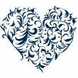 Floral ornament heart shape for your design  — Image vectorielle