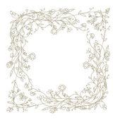 Sketch of floral frame for your design — Stock Vector