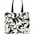 Shopping bag design, floral ornament — Vettoriali Stock
