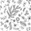 Floral ornament sketch, seamless background for your design — Stock Vector