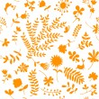 Floral ornament sketch, seamless background for your design — Stock Vector #5376874