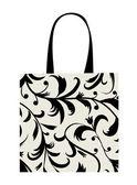 Shopping bag design, floral ornament — Stock Vector