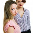 Stock Photo: Two young beautiful girls