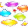 Set of color clouds — Stock Photo