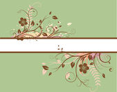 Floral Decorative banner — Stock Photo