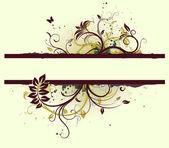 цветочный декоративный баннер — Стоковое фото