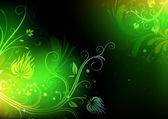 Floral Decorative background — Stock Photo