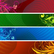 Floral Decorative banners — Stock Photo