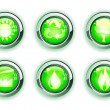 Green ecologe icons — Stock Photo #4093272