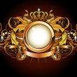 Heraldic golden frame — Stock Photo