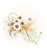 Floral Decorative background — Stockfoto