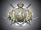 Heraldic shield — Stock Photo