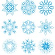 Stock Photo: Snowflakes set